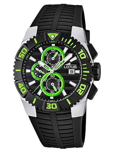 Lotus 15778/6 - Reloj para hombre con correa de caucho, color negro/gris: Amazon.es: Relojes