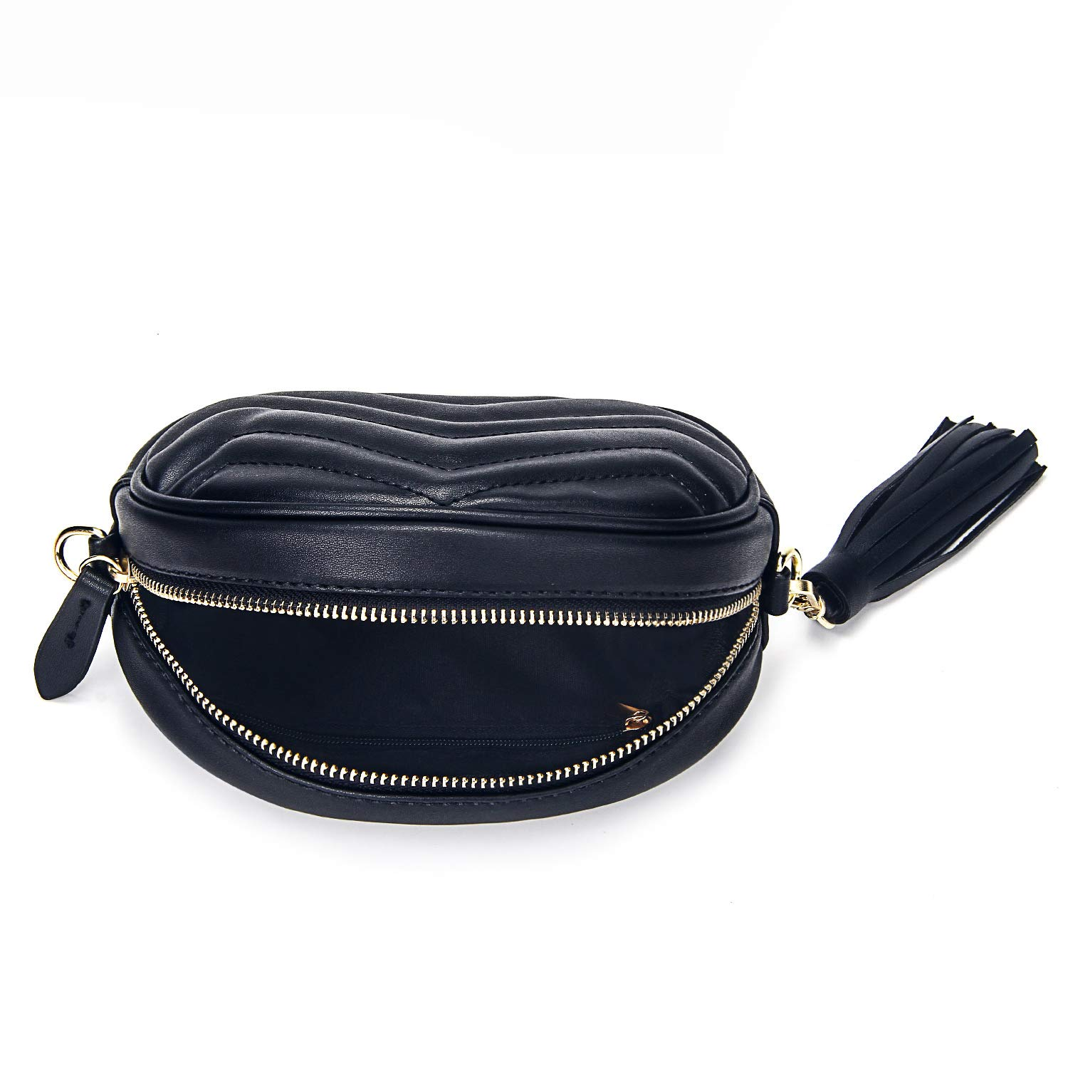 92cc28f9c8 Amazon.com: Fashion Fanny Waist Packs for Women Girls Stylish Bum Bag for  Ladies Waist Purse (Black): Shoes