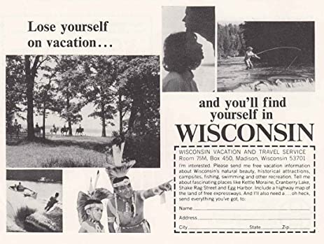 Amazon 1967 wisconsin lose yourself wisconsin tourism print 1967 wisconsin lose yourself wisconsin tourism print ad solutioingenieria Image collections