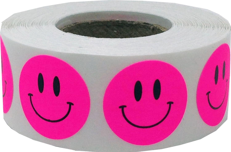 19 mm 3//4 Zoll Runde Gl/änzend Gold Gl/ücklich Gesicht Kreis Punkt Aufkleber 500 Etiketten auf einer Rolle