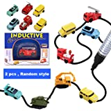 2PACK Mini Inductive Car Toy, Car Truck Tank Bus Follow Any Drawn Line Battery Included For Pre-school Learning and Children by Sportsvoutdoors [Random 2 Style]