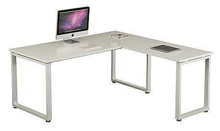 hjh OFFICE 674040 Escritorio WORKSPACE XL Blanco/Blanco Mesa de ...
