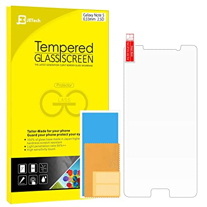 galaxy note 5 screen protector jetech tempered glass screen protector film for samsung galaxy note amazoncom tempered glass