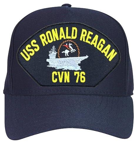 b8b19c7e8 MilitaryBest USS Ronald Reagan CVN-76 with Cowboy Ball Cap Hat with Custom  Back Text