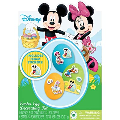 Class Cards Disney Mickey Mouse Easter Egg Decorating Kit: Toys & Games