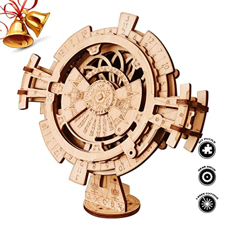 Amazon Com Robotime 3d Wooden Mechanical Puzzle Diy Perpetual