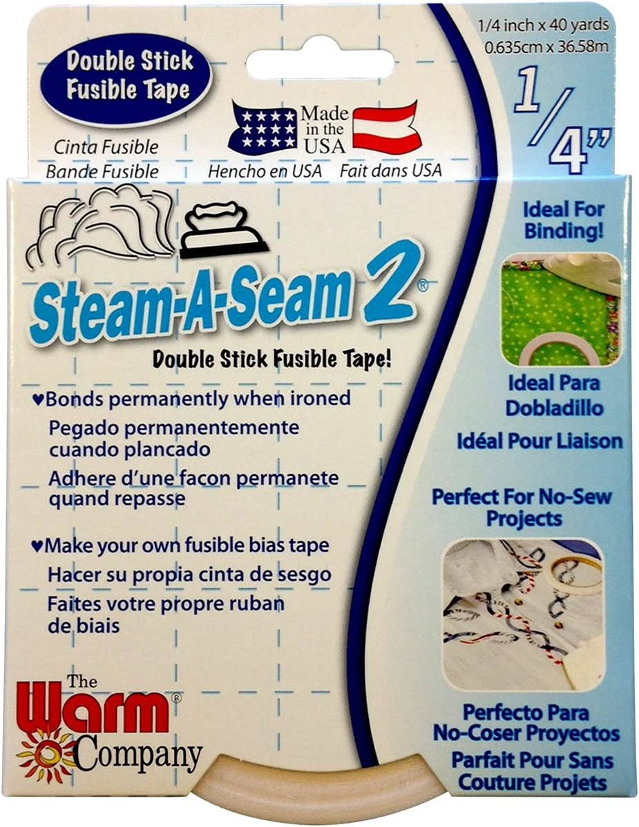 Warm Company Steam-A-Seam 2 Double Stick Fusible Web 1//4X40 Yards