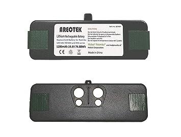 Areotek - Batería de Repuesto para iRobot Roomba R3 500 600 700 800 900 Series (5200 mAh): Amazon.es: Hogar