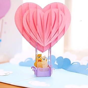 Amazon.com: Liif Love Globo 3D Tarjeta de felicitación de ...