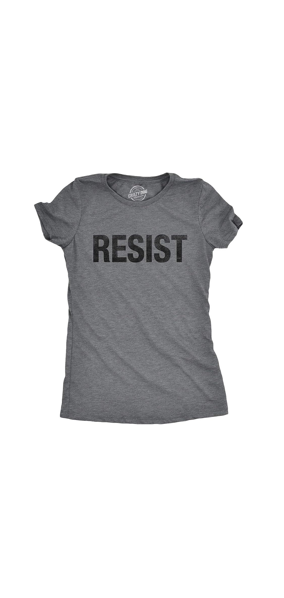 Womens Resist T Shirt Political Anti Trump