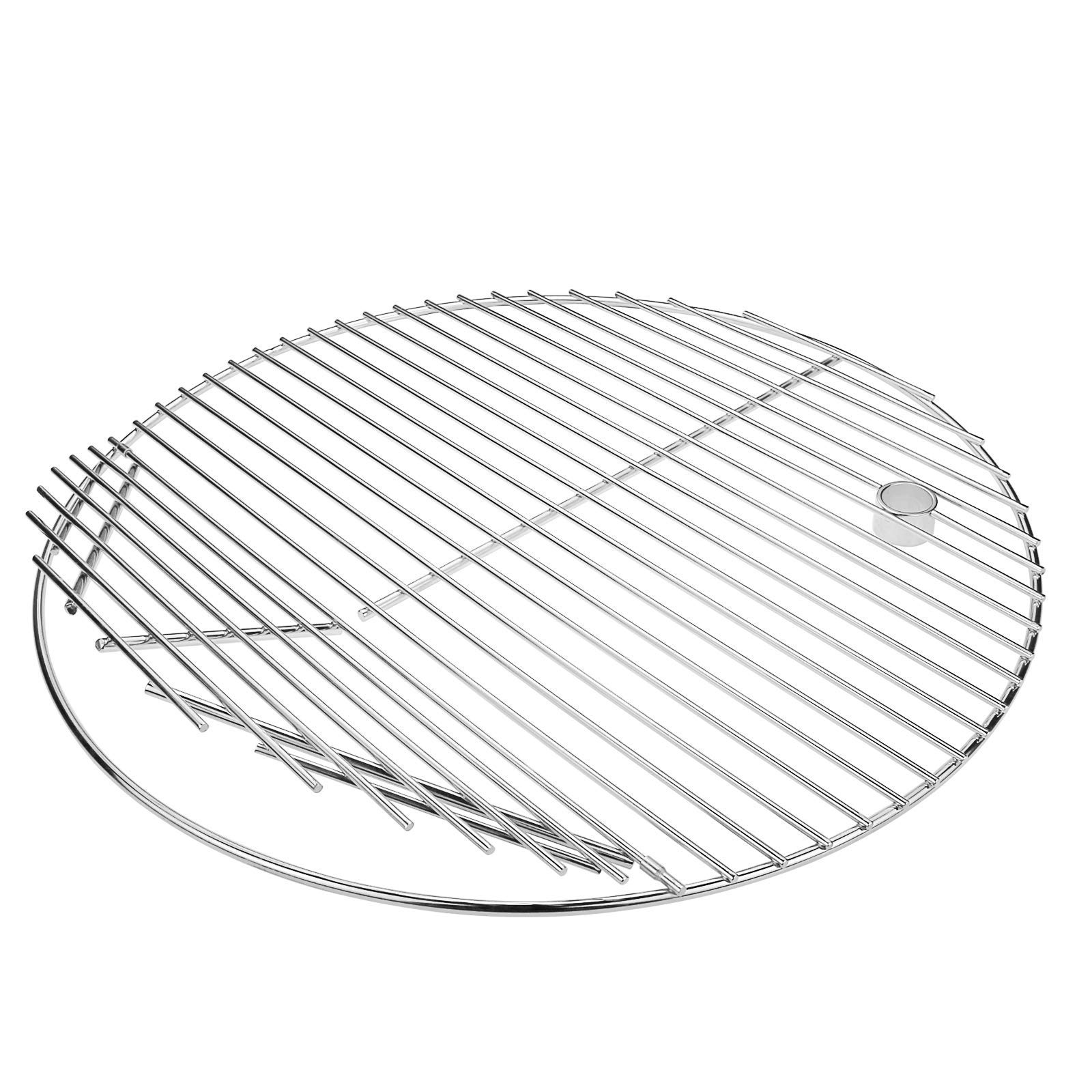 QuliMetal 19.5 Inch SUS 304 Round Cooking Grate Cooking Grid for Akorn Kamado Ceramic Grill, Pit Boss K24, Louisiana Grills K24, Char-Griller 16620 and Other Grills, for 20 Inch Charcoal Grill