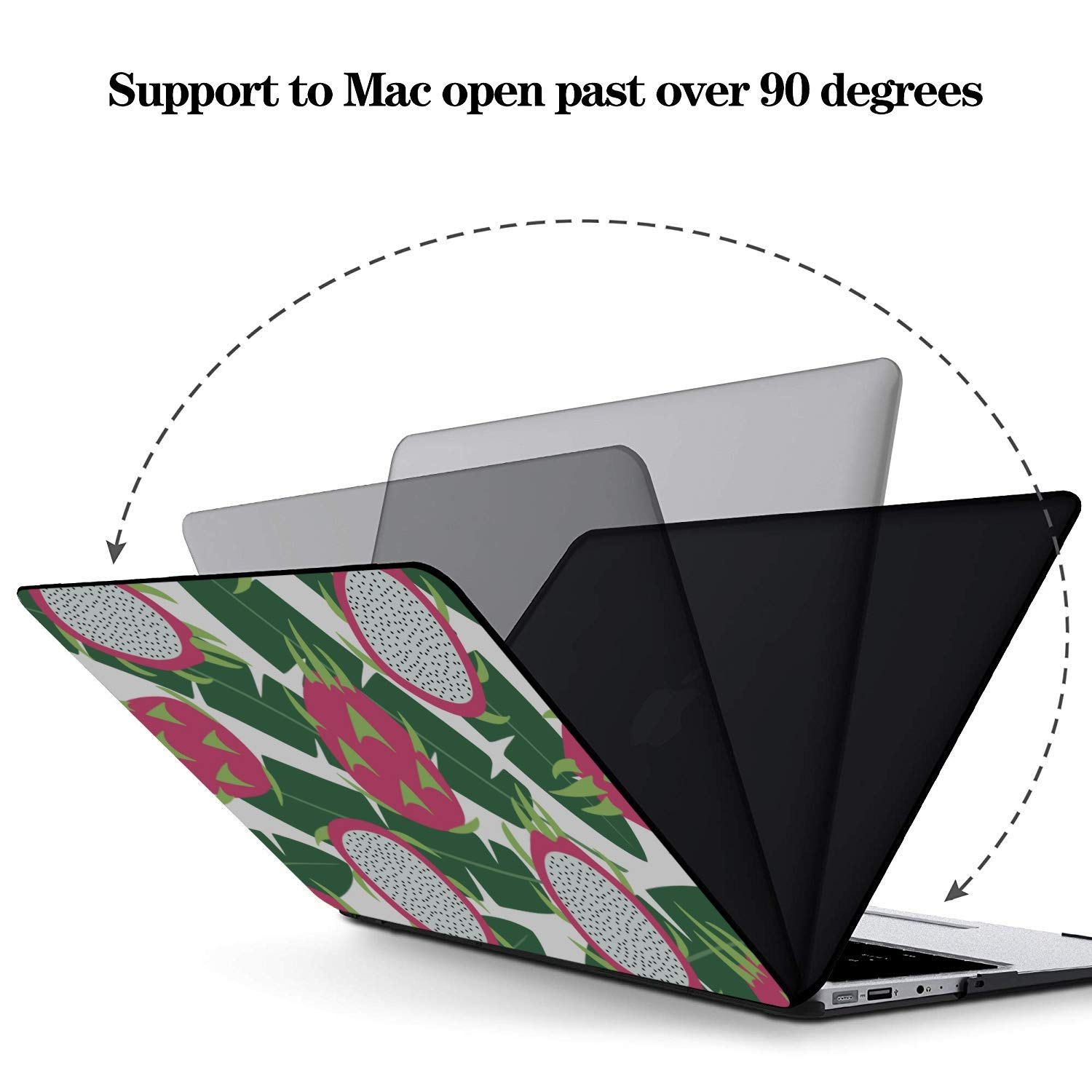 MacBook Pro 15 Case Sweet Art Tropical Fruit Dragon Leaf Plastic Hard Shell Compatible Mac Air 11 Pro 13 15 2018 MacBook Pro Accessories Protection for MacBook 2016-2019 Version