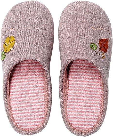 Zapatillas Para Mujer Algodón Slippers,Rosa Japonesa Pegatina Circulares Impermeables De Silencio Interior Cálido Hogar Zapatillas De Algodón Sueltas Retro Portátil Antideslizante Otoño Inviern: Amazon.es: Deportes y aire libre