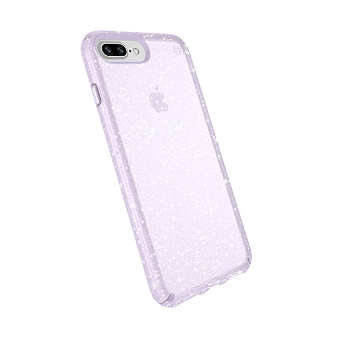 newest 37e5b cd9a3 Speck Products Compatible Phone Case for Apple iPhone 8 Plus/iPhone 7  Plus/iPhone 6S Plus, Presidio Clear + Glitter Case, Geode Purple with Gold  ...