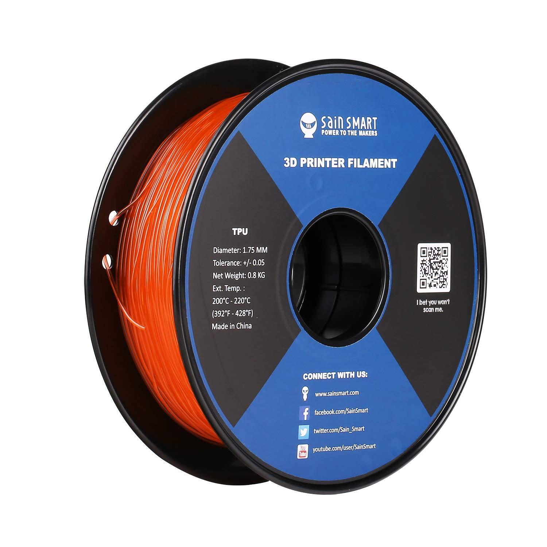 Dimensional Accuracy +//- 0.05 mm 1.75 mm SainSmart Black Flexible TPU 3D Printing Filament 0.8 kg
