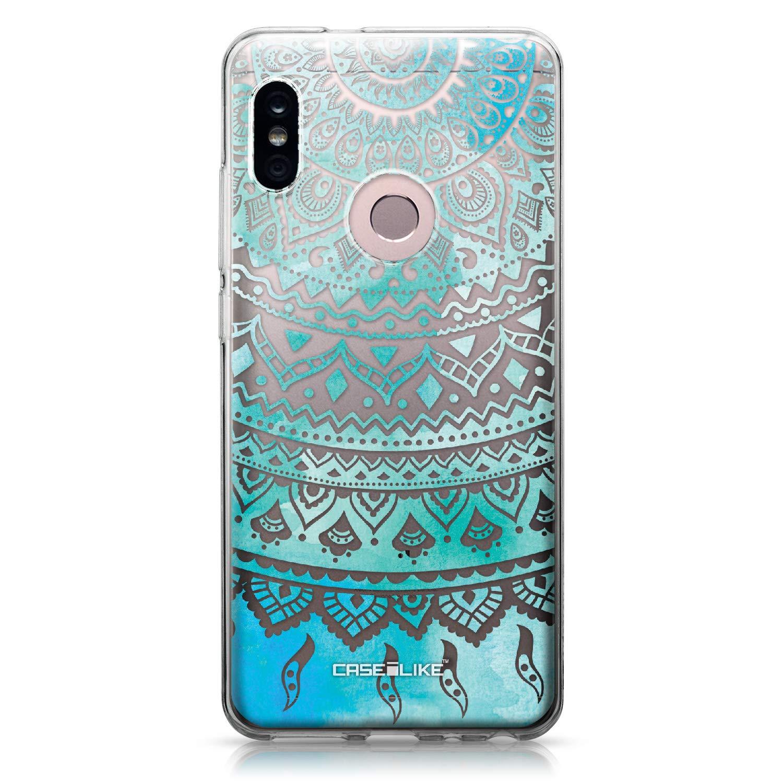 CASEiLIKE® Funda Redmi Note 5 Pro, Carcasa Xiaomi Redmi Note 5 Pro, Arte Indio de la línea 2066, TPU Gel Silicone Protectora Cover