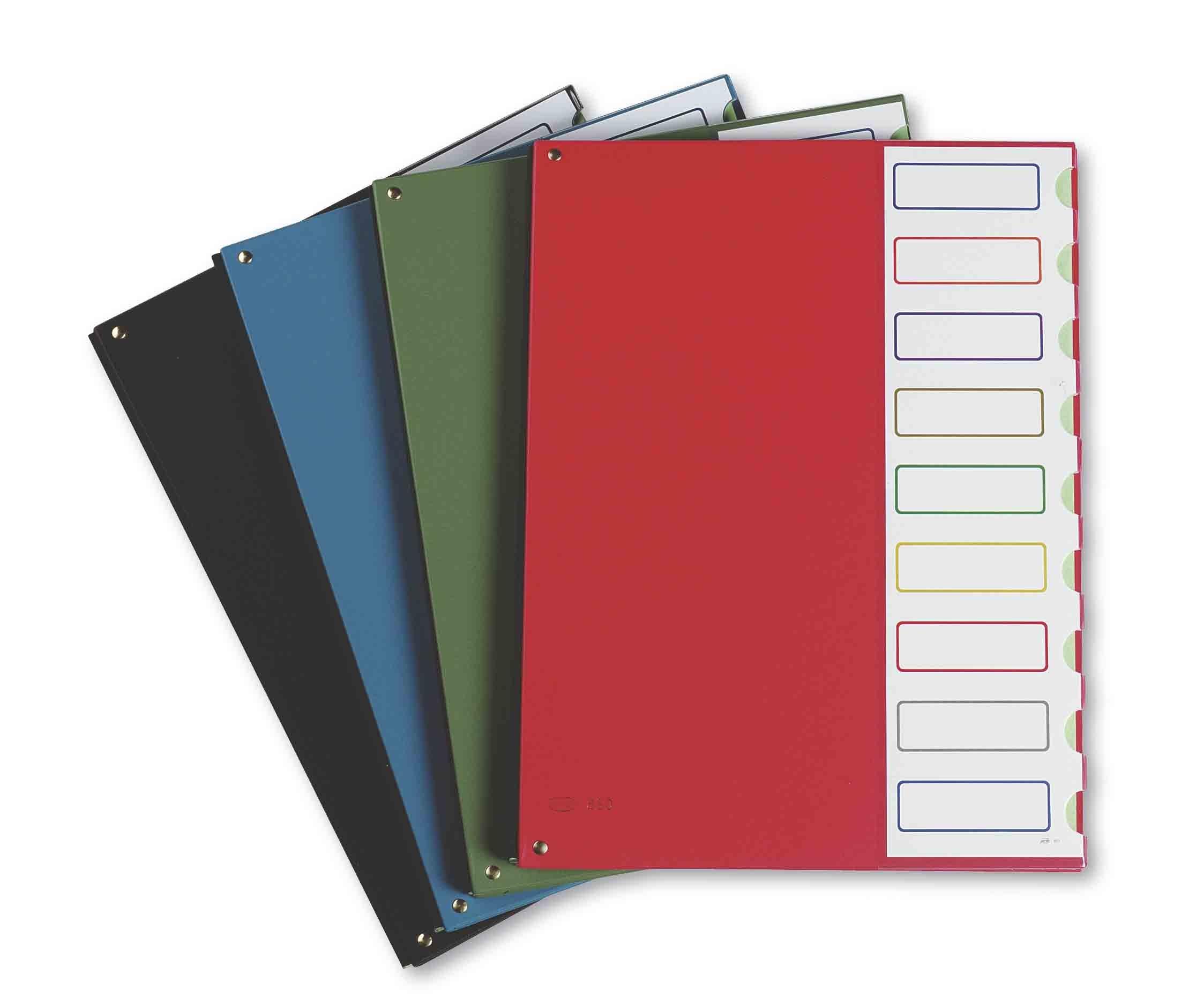 Pardo 85004–Clasificador Covered Plastic 9Compartments Closing Erasers, Green
