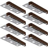 LEONLITE 8-Pack 7 Inch LED Hardscape Paver Light, 1.5W Low Voltage Deck Step Light, Outdoor IP65 Waterproof, Soft White…