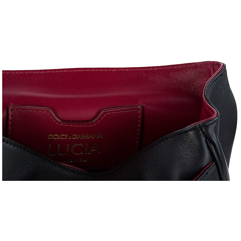 ff698a4bd7 Dolce Gabbana women s leather shoulder bag original lucia black   Amazon.co.uk  Shoes   Bags