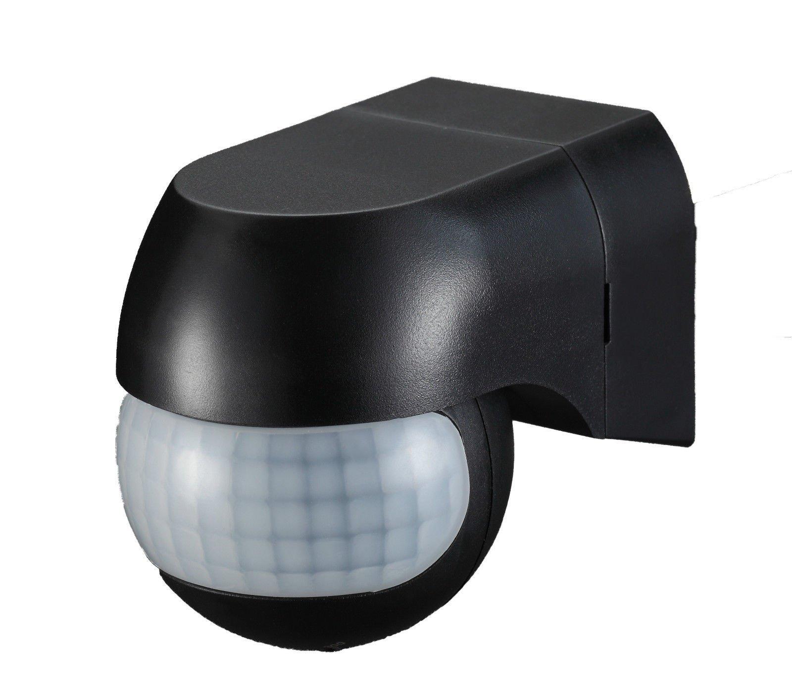 Sensor de movimiento Ukew - infrarrojo (PIR) para luces exteriores, 180 grados,
