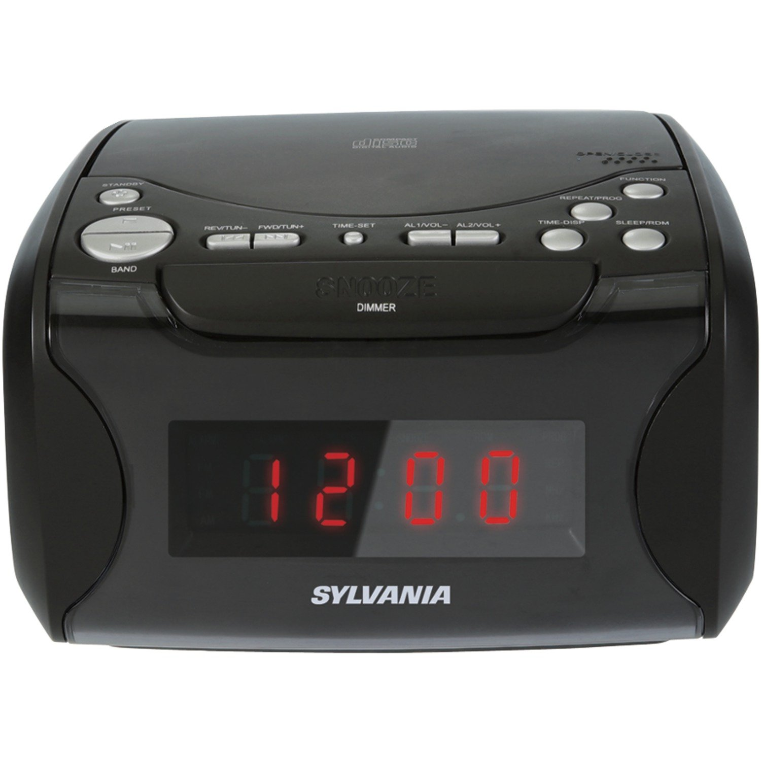 Sylvania Alarm Clock Radio with CD Player and USB Charging
