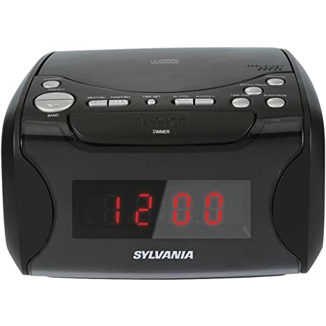 amazon com sylvania alarm clock radio with cd player and usb rh amazon com