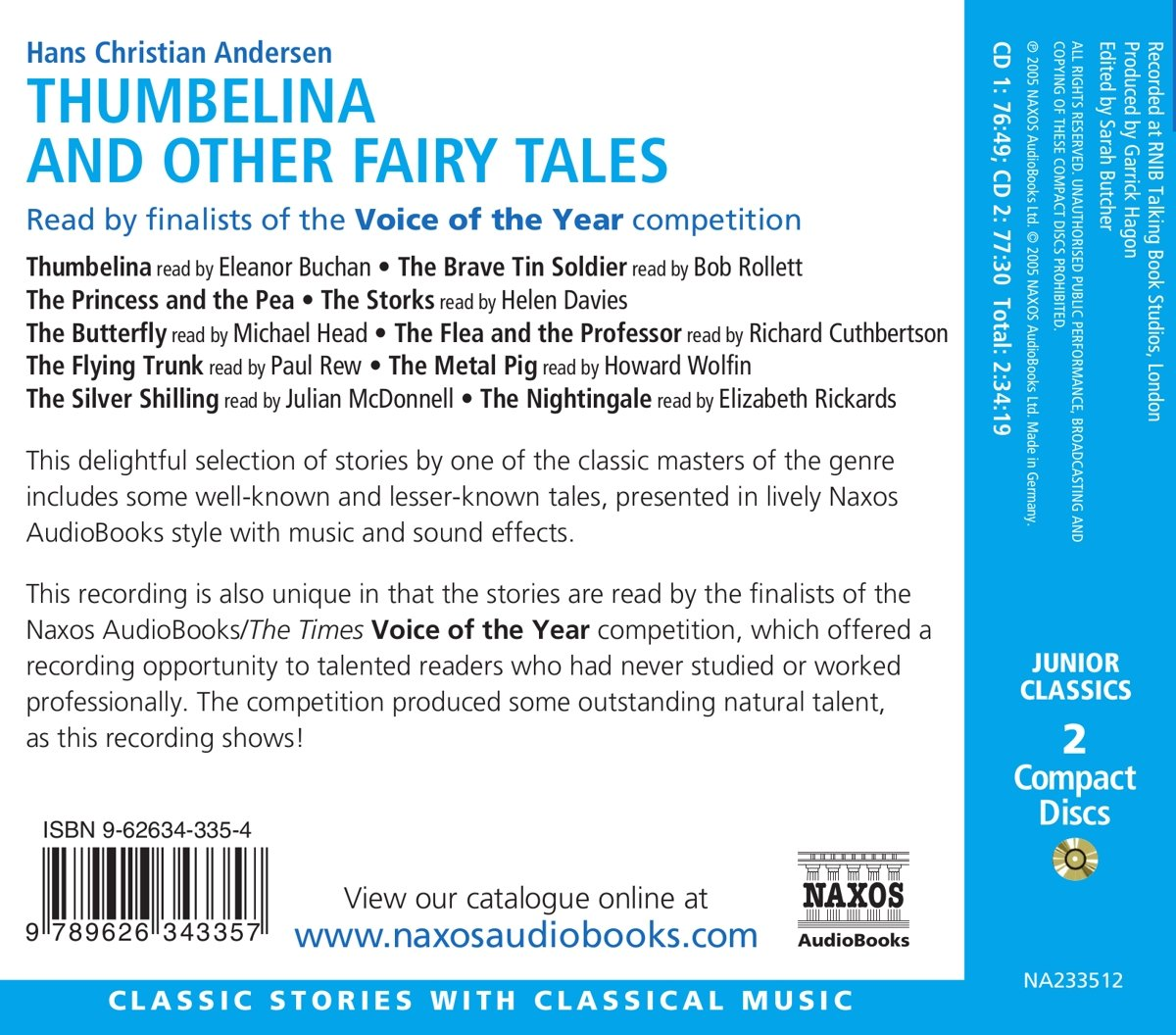 Thumbelina & Other Fairytales by Brand: Naxos Audio Books