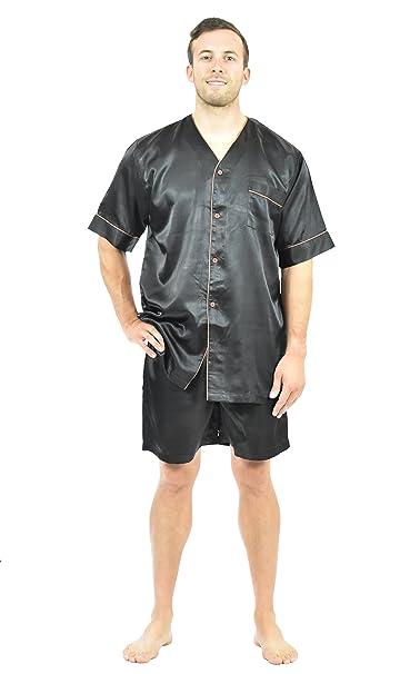 603e767455 Up2date Fashion Mens Satin Pajamas