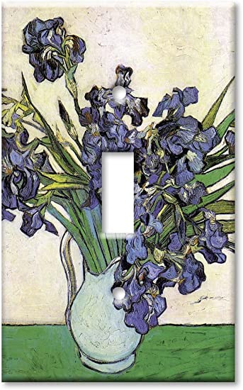 Art Plates Van Gogh Single Gang Toggle OVERSIZE Switch Plate//OVER SIZE Wall Plate Vase /& Irises