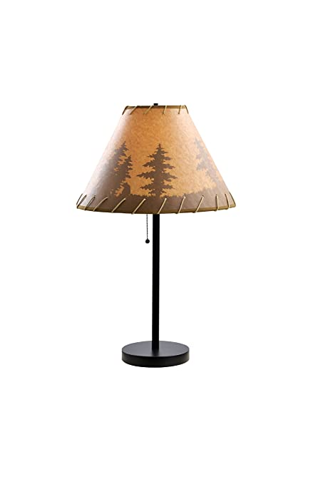 Catalina lighting 26 lodge table lamp with printed pattern on oil catalina lighting 26quot lodge table lamp with printed pattern on oil paper shade rope aloadofball Images