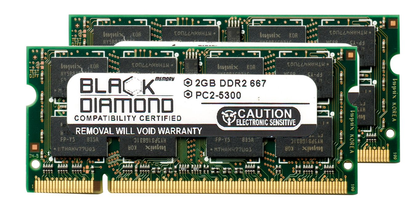 2x2GB Memory PC2-5300 SODIMM For Acer Extensa 5230 NEW 4GB