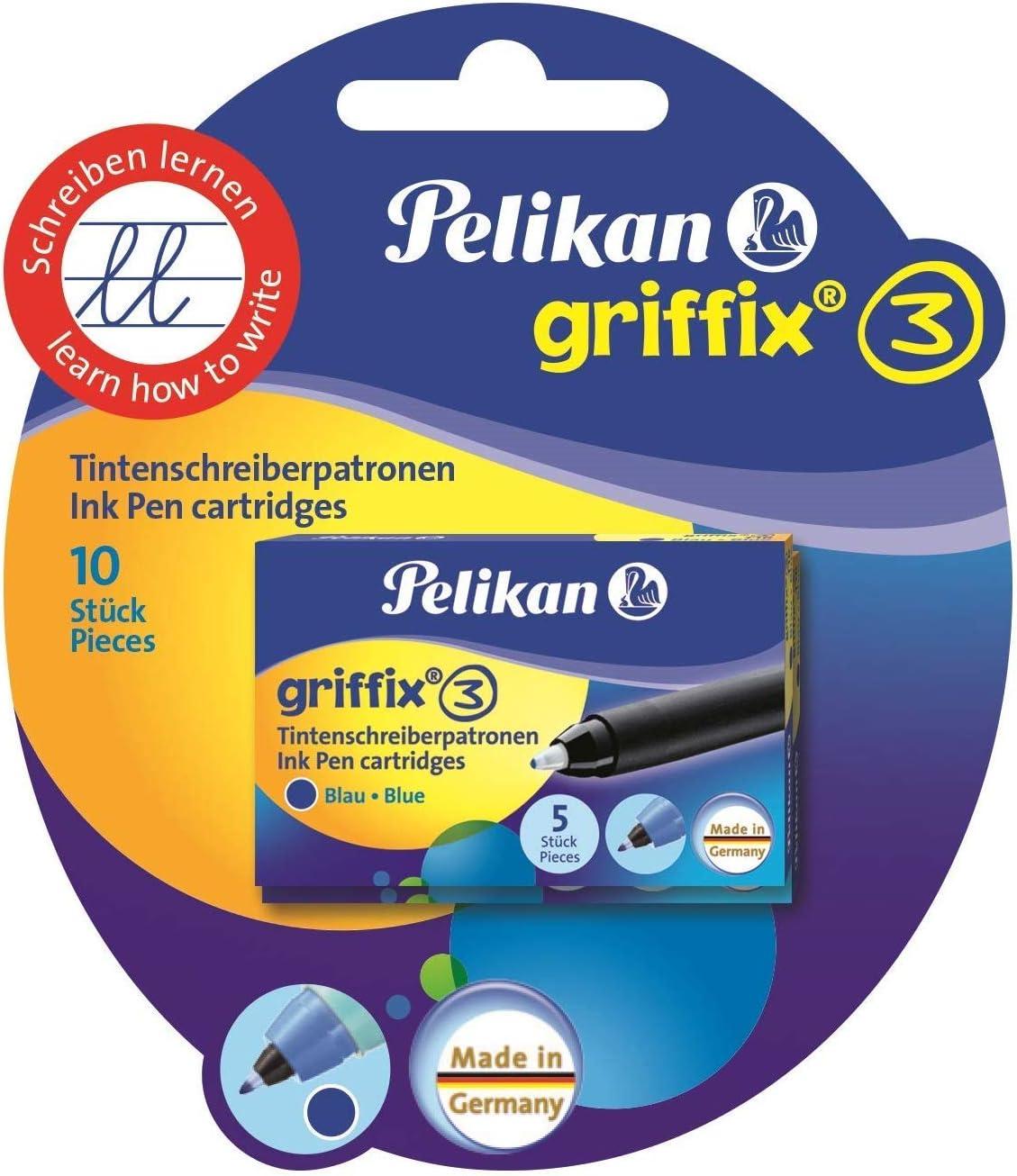 f/ür Rechtsh/änder Pelikan 928036 F/üllhalter griffix mit Drehkappe Pink
