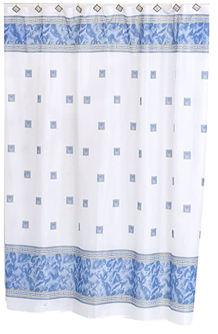 Carnation Home Fashions Windsor 5 Feet 8 Inches By 6 Fabric Shower Curtain