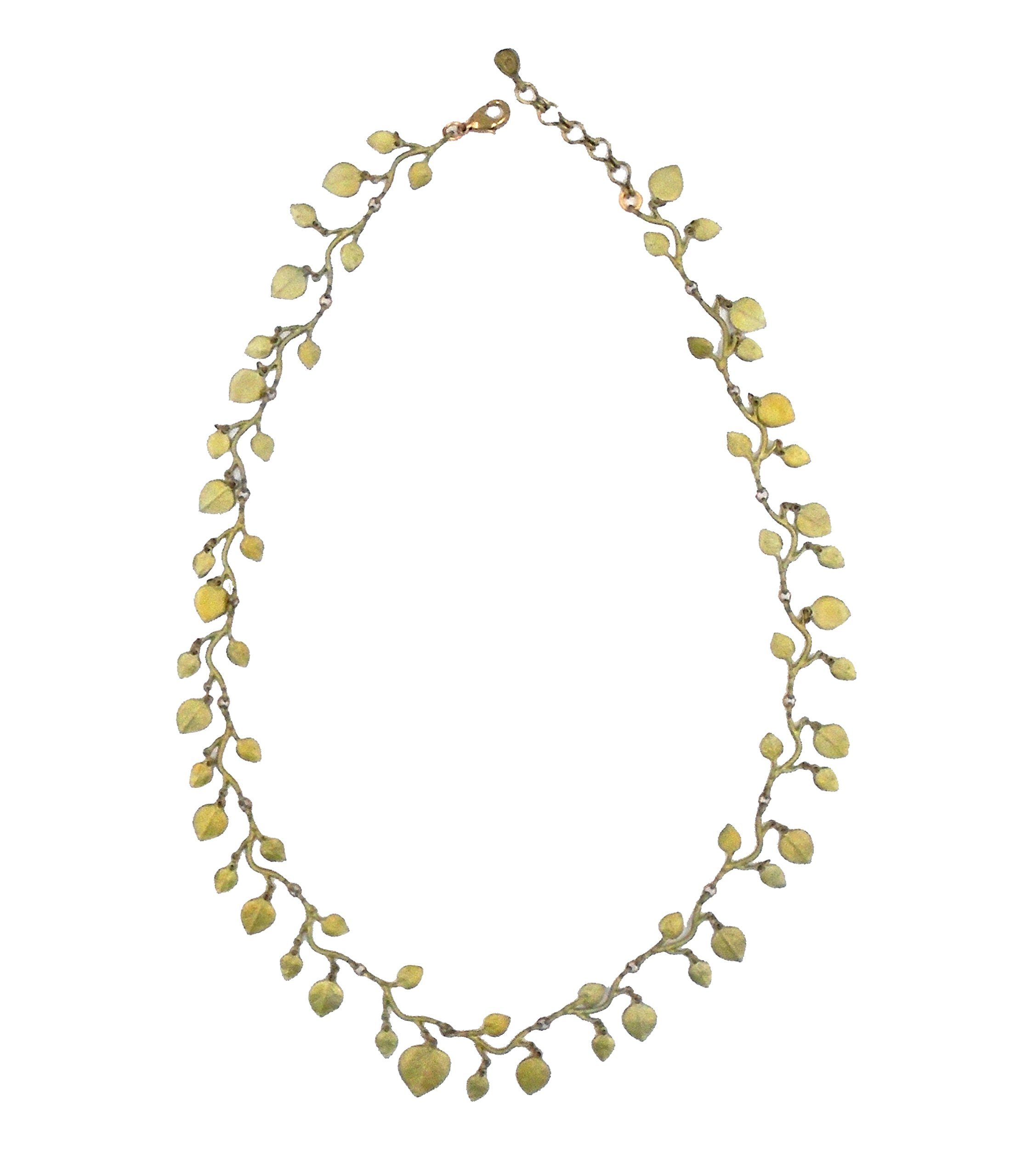 OURS EXCLUSIVELY EUCALYPTUS LEAF NECKLACE BY MICHAEL MICHAUD FOR SILVER SEASONS…