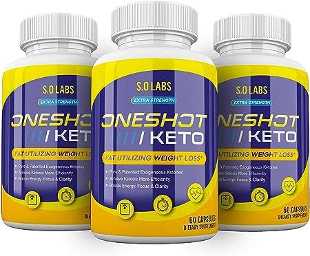 (3 Pack) One Shot Keto Pills Oneshot Keto 1 Shot Fat Advanced Formula Supplement As Seen on TV (180 Capsules)
