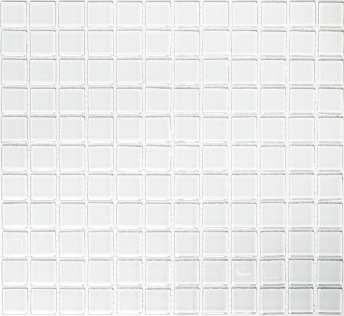 Mosaic Tiles Crystal Transparent Plain White