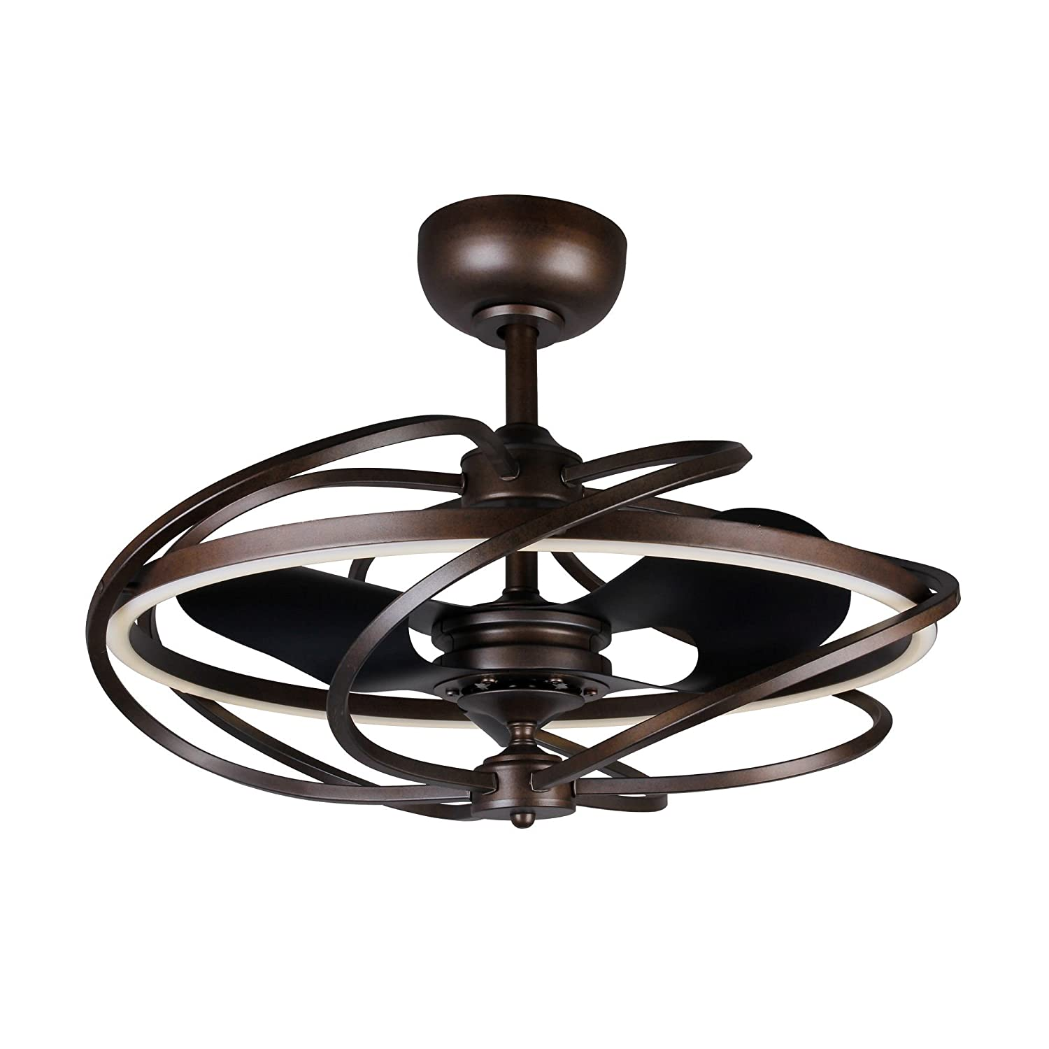 Modern Ceiling Fan With Led Lights 27 Inch Contemporary Art