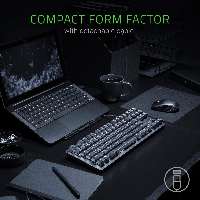 Tactile /& Silent IDS Home BlackWidow Lite Compact Design Mechanical Tenkeyless Keyboard Orange Key Switches - Matte Black