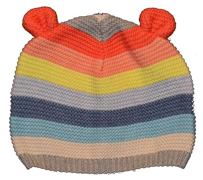 Amazon.com  babyGap Baby Gap Girls Multi Stripe Bear Garter Beanie ... da8deb496a0