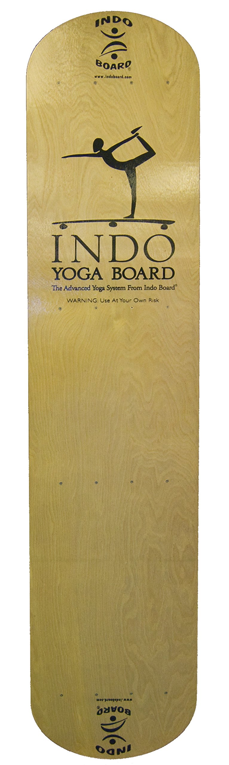 INDO BOARD Yoga Board with Wood Deck - Practice Unstable Yoga Without The Need For a Stand Up Paddleboard or Water. Brings A New Level Of Yoga Into The Studio. Fun and Challenging, Improves Balance