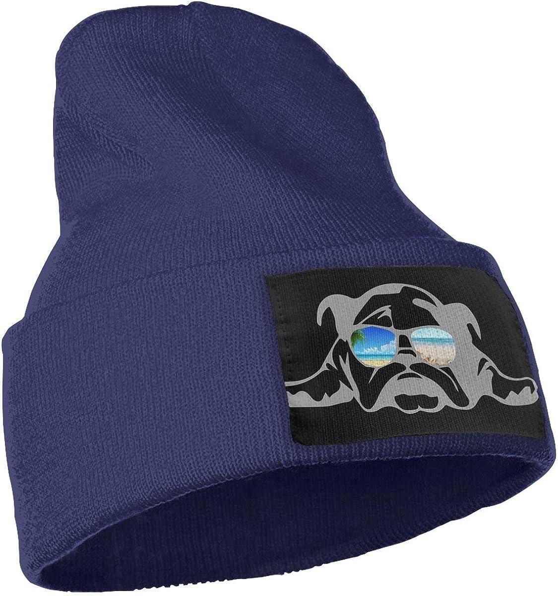 Bulldog Sunglass Vacation Men /& Women Knitting Hats Stretchy /& Soft Ski Cap Beanie