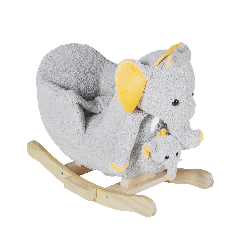 Holzspielzeug Knorr Toys Schaukeltier Elefant Nele mit Sound inkl Handpuppe TOP