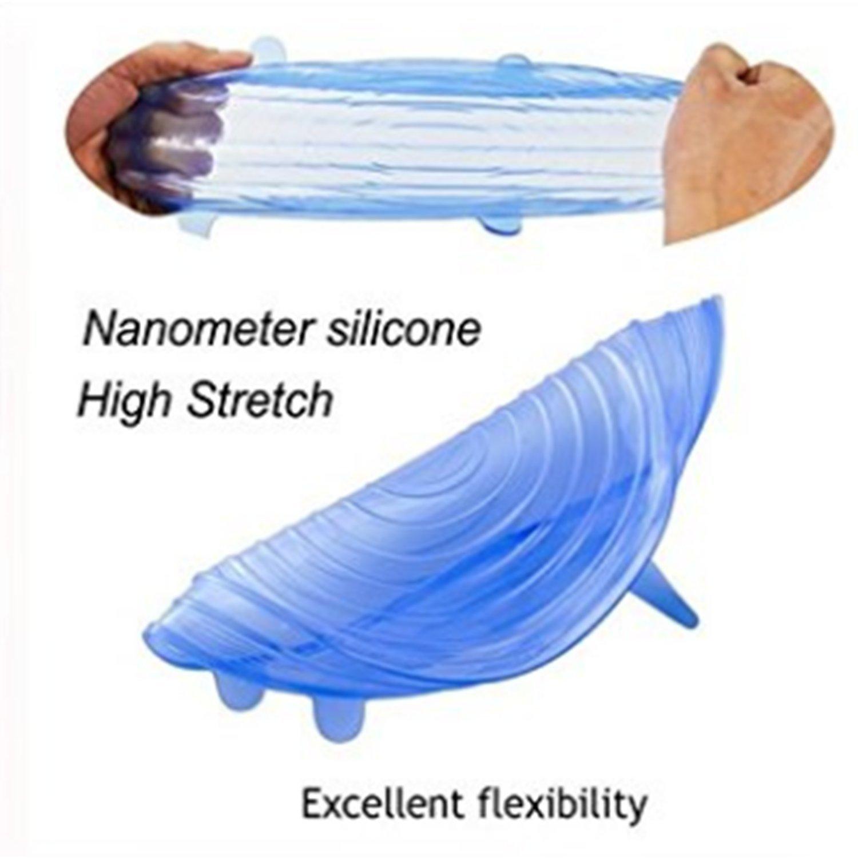 Nifogo Tapas de Silicona elásticas, Tapadera Flexible Extensible ...