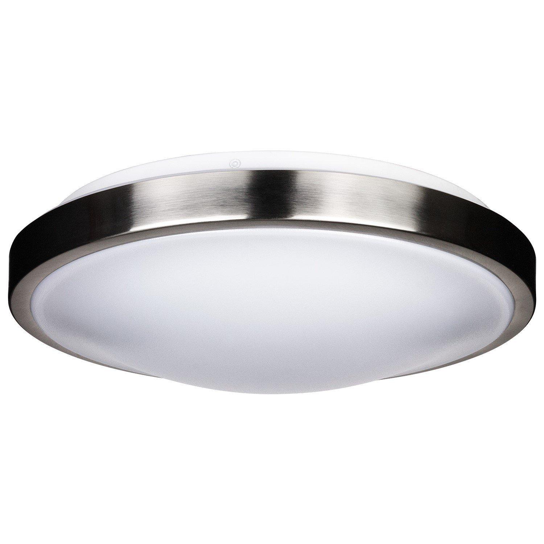 equivalent lens light mount acrylic lights housing moreinfo brush nickel led dimmable w ceiling lumens flush watt brushed back