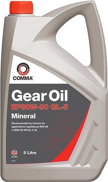 Comma EP809005L GL5 - Aceite Mineral para transmisiones (5 l): Amazon.es: Coche y moto