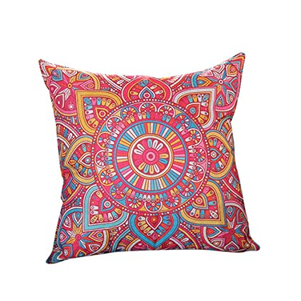 Amazon.com: Birdfly Mexican Style Vibrant Floral Throw Pillow Cases ...