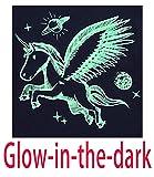 Unicorn Little Girls Glow in The Dark Long Sleeve