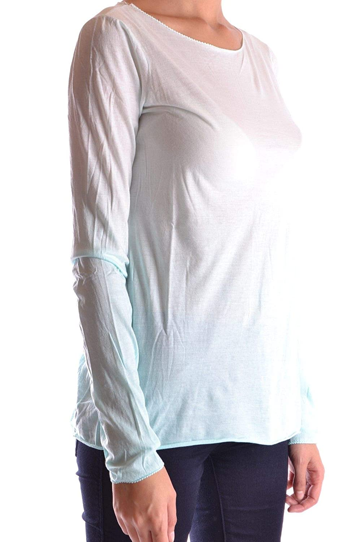 BP Studio Womens MCBI16122 Light Blue Cotton T-Shirt
