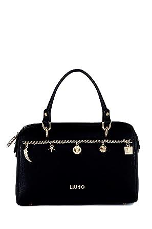 los recién llegados la compra auténtico retro Liu Jo A19112E0058 Bolsos de mano Mujer Negro TU: Amazon.es ...