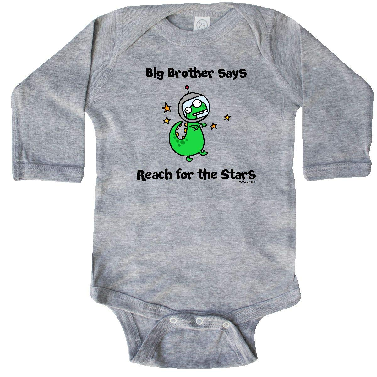 Flossy and Jim inktastic Bro Says Reach for The Stars Long Sleeve Creeper